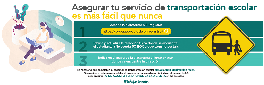 Registro transportación escolar